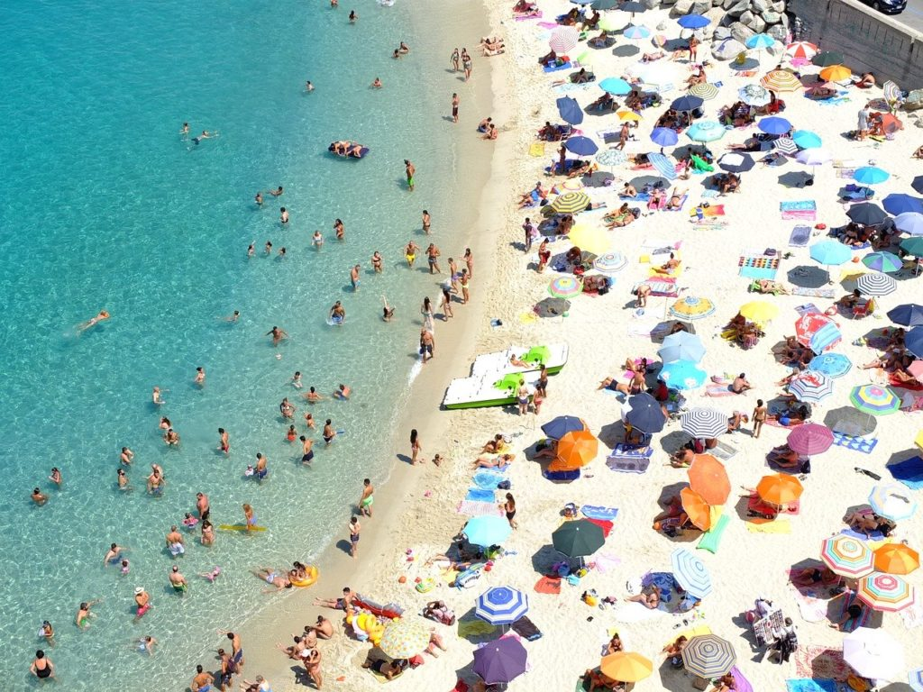 European Beaches Begin to See Crowds